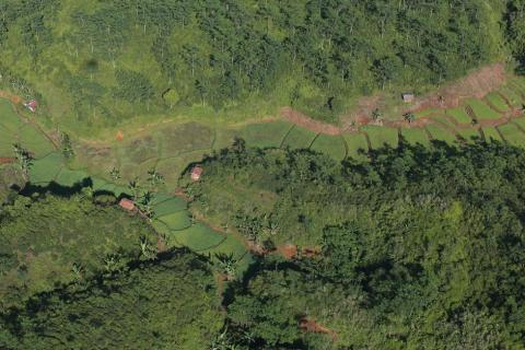 Aerial view of the landscape around Halimun Salak National Park, West Java, Indonesia.Photo by Kate Evans/CIFOR